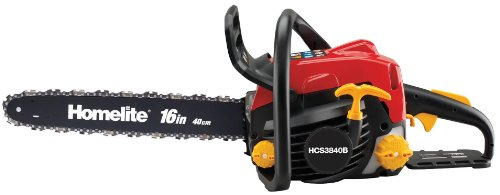 Homelite Hcs3840b 38cc Petrol Chainsaw, 16in/40cm Bar