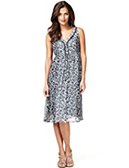 Indigo Collection V-Neck Floral Dress