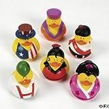 One Dozen (12) Around the World Multi-Cultural Theme Rubber Ducks