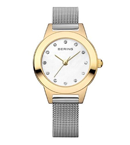 BERING Time Women's Classic Collection Watch with Mesh Band and scratch resistant sapphire crystal. Designed in Denmark. 11125-010