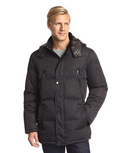 Perry Ellis Men's Poly Wellon Filled Parka Jacket