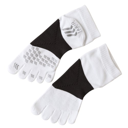 (Tabio) racing run five finger socks 25 ~ 27 cm bleached