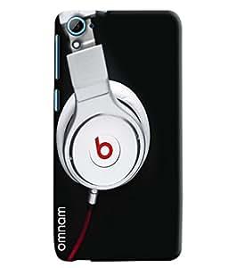 Omnam Beats Headphones Printed Designer Back Cover Case For HTC Desire 626