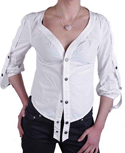 Diesel Damen Bluse Hemd Diori Camicia Weiß Gr. S #20