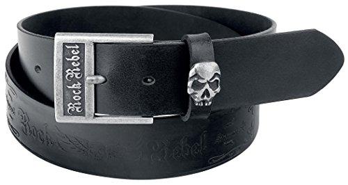 Rock Rebel by EMP Embossed Skull Belt Cintura nero 120 cm