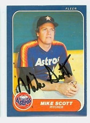 Mike Scott AUTOGRAPH 1986 Fleer Houston Astros