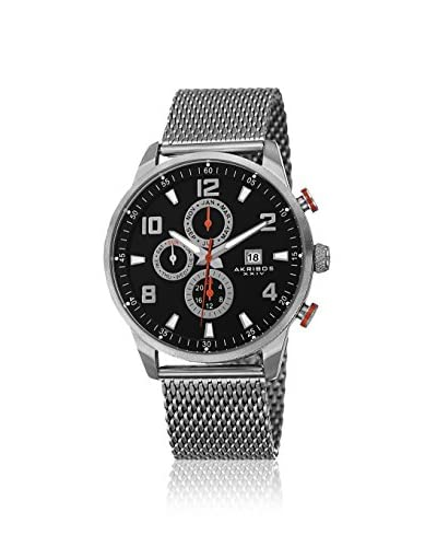 Akribos XXIV Men's AK784SSB Multifunction Silver-Tone Mesh Watch