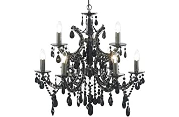 Essentialz Litecraft Moscow 9 Light Chandelier – Black with Soft glow Nightlight   **Special Discount