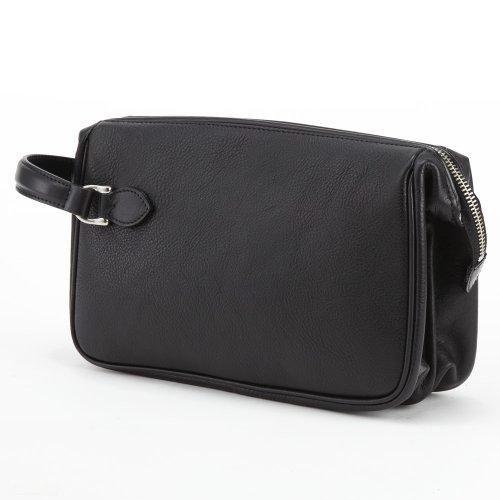 LuggageAOKI(青木鞄)[GAZA(ガザ) DINALY BUSINESS II] 本皮メンズポーチ ブラック(4871-10)