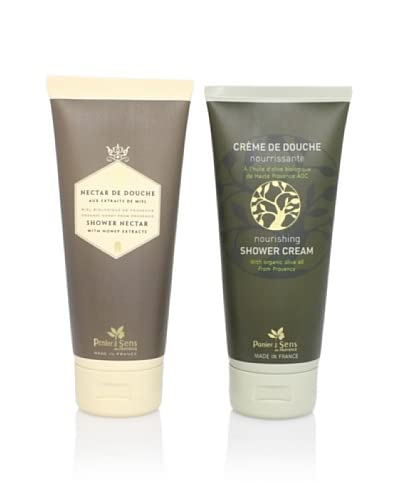 Panier des Sens Organic Olive and Honey Shower Cream, Set of 2