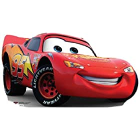Lightning McQueen (Disney Pixar Movie Cars) Large-Size Standup Poster
