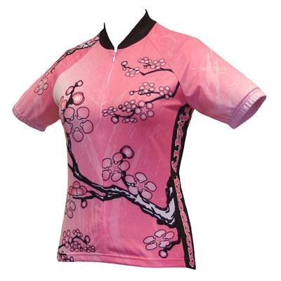 Buy Low Price World Jersey's Women's Cherry Blossom Short Sleeve Cycling Jersey (B001NZVEKQ)