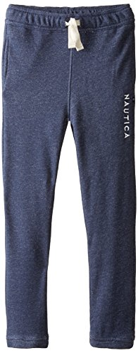 Nautica Big Boys' Marled French Terry Pant, Navy, Large