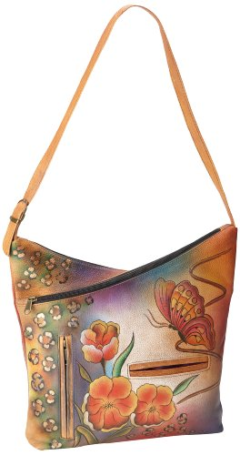 Anuschka 357 Shoulder Bag,Premium Floral Safari,One Size