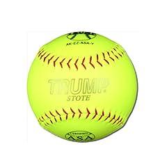 Buy 1 Dozen ASA Trump Stote 12 Softballs - 44cor .375 Compression (AK-EZ-ASA-Y) 12 Balls by Trump/Evil Sports