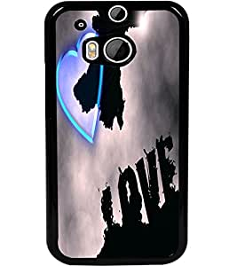 ColourCraft Love Heart Design Back Case Cover for HTC ONE M8