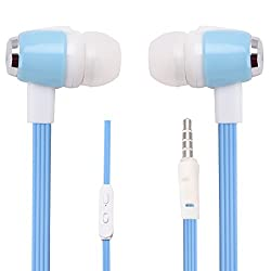 Hello Zone Stereo Bass 3.5 MM Jack Premium Quality Headset Handsfree Headphone Earphone for BlackBerry Z10 -Blue