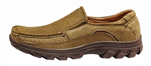 INDEX Men's Knit Style Bubuck Casual Shoes