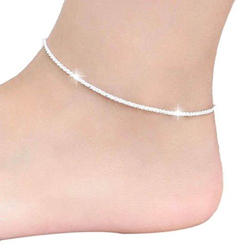 Lookatool Hemp Rope Women Chain Ankle Bracelet Barefoot Sandal Beach Foot Jewelry
