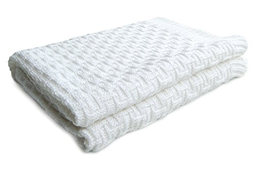 SonnenStrick 100% Organic Cotton Baby Blanket Made in Germany (40 x 35.5 inch) - 1