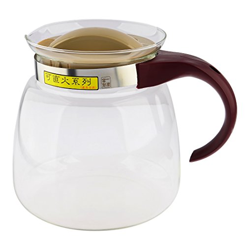 Yamix Heat-resistant Teapot Glass Stovetop Kettle for Electric & Gas Stoves - 0.48 Gallon /1800ML (Heat Resistant Glass Tea Kettle compare prices)