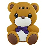 Animal 3d Cute Cartoon Silicon Soft Cover Case for Samsung Galaxy S3 I9300 S Iii (Brown teddy)