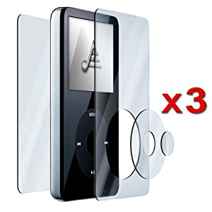 eForCity 3x Clear Screen Protector for 30GB/60GB/80GB iPod Video