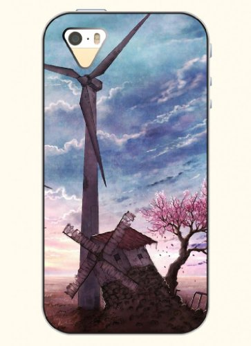 Oofit Phone Case Design With Windmill And Tree For Apple Iphone 4 4S 4G