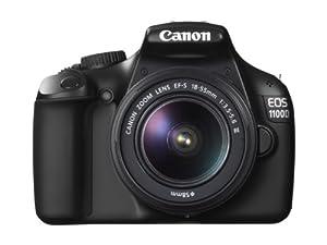 Canon EOS 1100D Appareil photo numérique Reflex 12.2 Mpix Kit Objectif 18-55mm III Noir