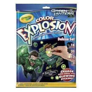 Crayola Color Explosion Green Lantern Coloring Book and Markers