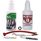 Kegconnection - Beer Line Cleaning Kit and Liquid Line Keg Beer Cleaner, 32 oz