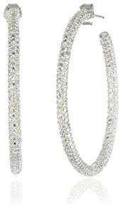 Sterling Silver Diamond Hoop Earrings, (.5 cttw, G-H Color, I2-I3 Clarity) from Amazon Curated Collection