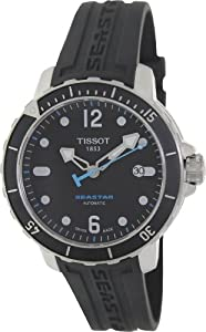 Tissot Men's T066.407.17.057.00 Black Rubber Automatic Watch with Black Dial