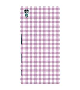 Checks Pattern 3D Hard Polycarbonate Designer Back Case Cover for Sony Xperia Z5 :: Sony Xperia Z5 Dual (5.2 Inches)