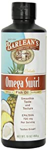 Barlean's Pina Colada Fish Oil Swirl, 16-Ounce