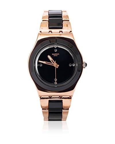Swatch Reloj de cuarzo Woman ROSE PEARL BLACK YLG123G 33.0 mm