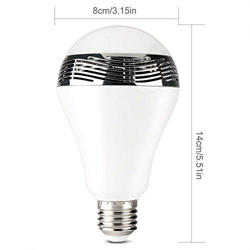 CYBERNOVA Drahtlose Bluetooth 4.0 Lautsprecher Bluetooth Nachtlichter  Birnen Mit Dimmbare Bunte Farbwechsel Smart LED Lampen Nacht Schreibtisch  Lights Bar ...