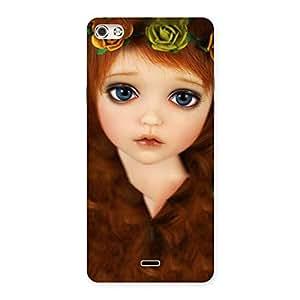Cute Tini Doll Multicolor Back Case Cover for Micromax Canvas Silver 5