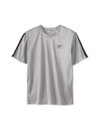 Umbro Men's Flat Back Mesh with Pieced Stripe Shirt