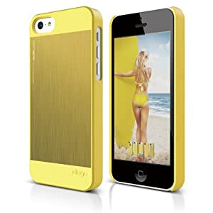 elago S5 Outfit Morph MX Aluminum and Polycarbonate Dual Case for the iPhone 5C + HD Professional film included - Full Retail Packaging (Yellow / Yellow)