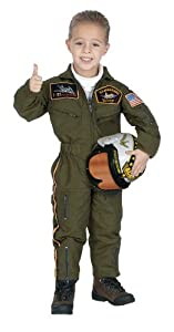 Jr. Armed Forces Pilot Suit with Helmet, size 4/6