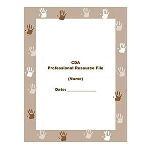 the cda prep binder handprint cover design. Black Bedroom Furniture Sets. Home Design Ideas