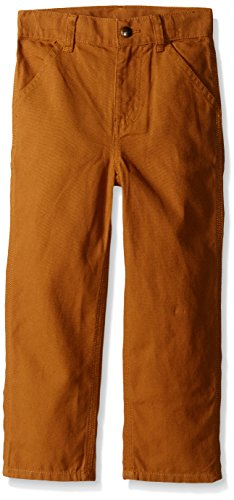 Carhartt Little Boys' Washed Dungaree Pant,Carhartt Brown,5