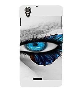 PrintVisa Blue Eyes Design 3D Hard Polycarbonate Designer Back Case Cover for LAVA IRISX800 :: LAVA-IRIS-800