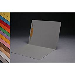 14pt Gray Folders, Full Cut 2-Ply END TAB, Letter Size, Fastener Pos #1 (Box of 50)