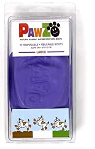 Large- Pawz Durable All Weather Dog Boots from Pawz