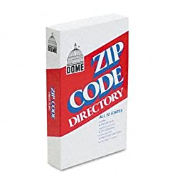 Dome - 4 Pack - Zip Code Directory Paperback 750 Pages \