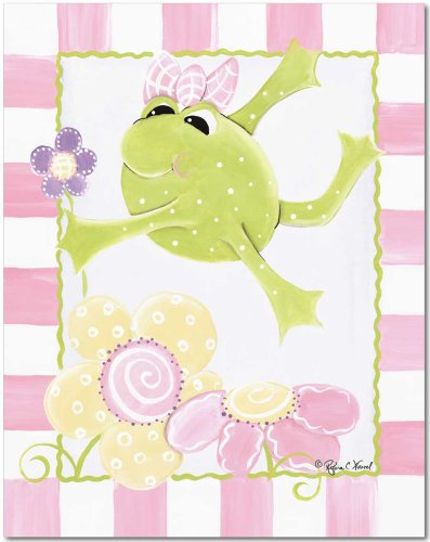 """Doodlefish Gallery-Wrapped 16""""x20"""" Wall Art, Paddy and Flowers,"""