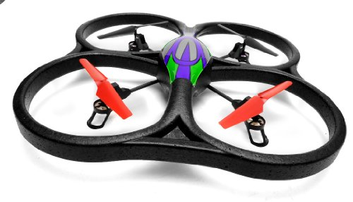 WL Toys V262 Cyclone UFO 4 Channel 6 Axis Gyro Quadcopter 24Ghz Ready to Fly Green
