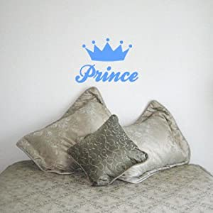PRINCE Boy Wall Room Decal Sticker Nursery Baby Decor | Color: Baby Blue